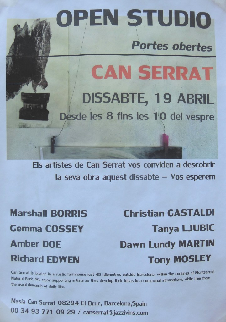 Can Serrat open studio poster
