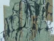 Ink & collage sketchbook drawing, Montserrat