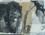 Mixed media sketchbook drawing (no. 1) Montserrat