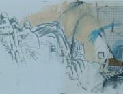 Mixed media sketchbook drawing (no. 2) Montserrat