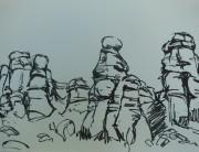 Posca pen drawing (small a) Montserrat