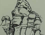 Posca pen drawing (small b) Montserrat