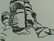 Posca pen drawing (small c) Montserrat