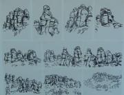 Posca pen drawings (series x 10) Montserrat